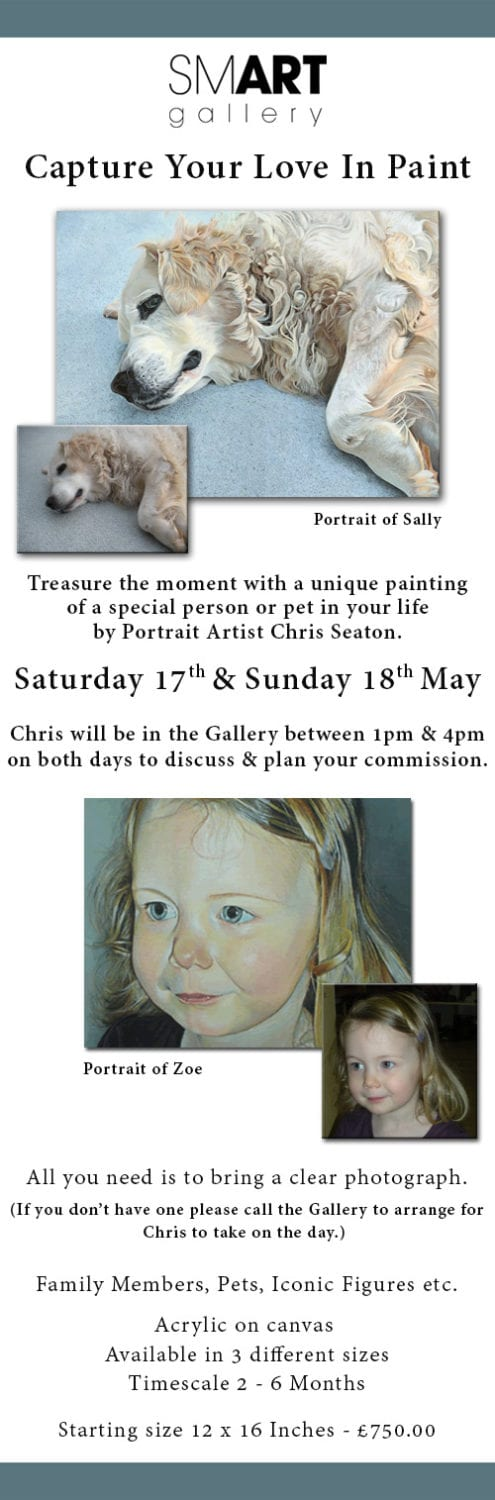 Commission a Portrait of a Loved One | Chris Seaton Weekend Event