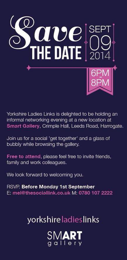Ladies Social Networking Evening – Tuesday 9th September – Crimple Hall, Harrogate