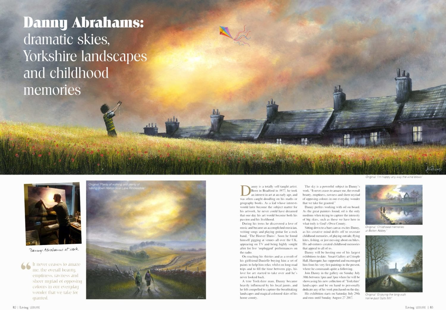 Danny Abrahams | Dramatic Skies, Yorkshire Landscapes & Childhood Memories.