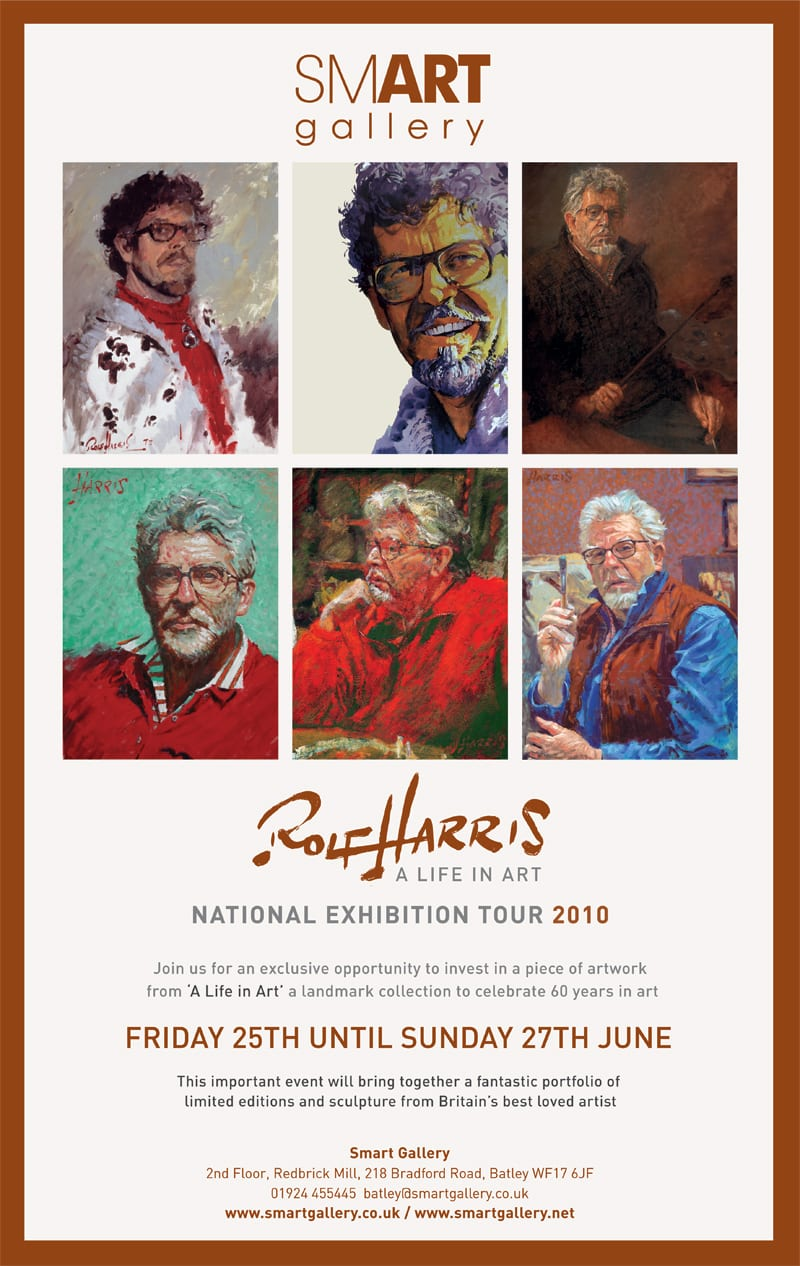 Rolf Harris' 'A Life in Art' Exhibition from Friday 25th – Sunday 27th June
