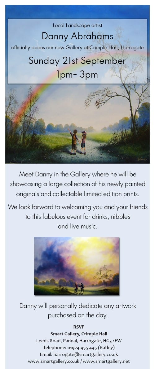 Danny Abrahams Officially Opens our New Gallery at Crimple Hall, Harrogate | 21st September