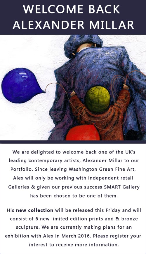 SMART GALLERY WELCOMES BACK LEADING CONTEMPORARY ARTIST ALEXANDER MILLAR