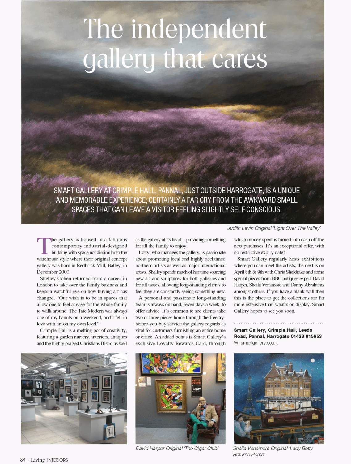 The Independent Gallery That Cares | Yorkshire Living Article