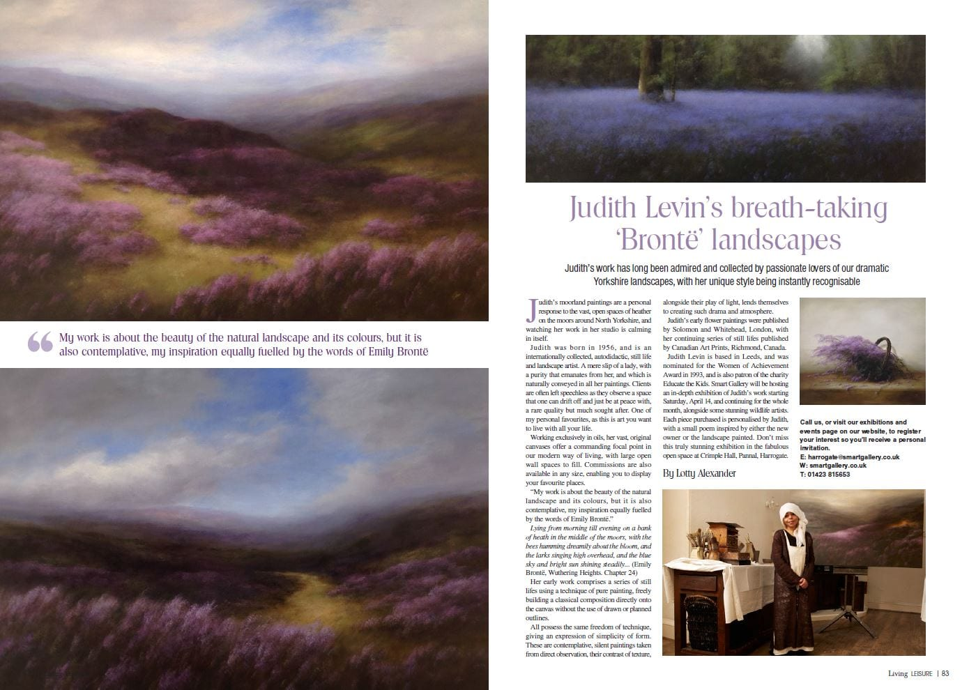 Judith Levin – An exhibition of breath-taking 'Bronte' landscapes  – Yorkshire Living Magazine
